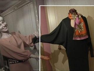 Трикотажное платье-блузон